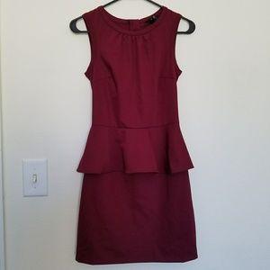 H&M Purple Plum Peplum Sleeveless Dress Size 4